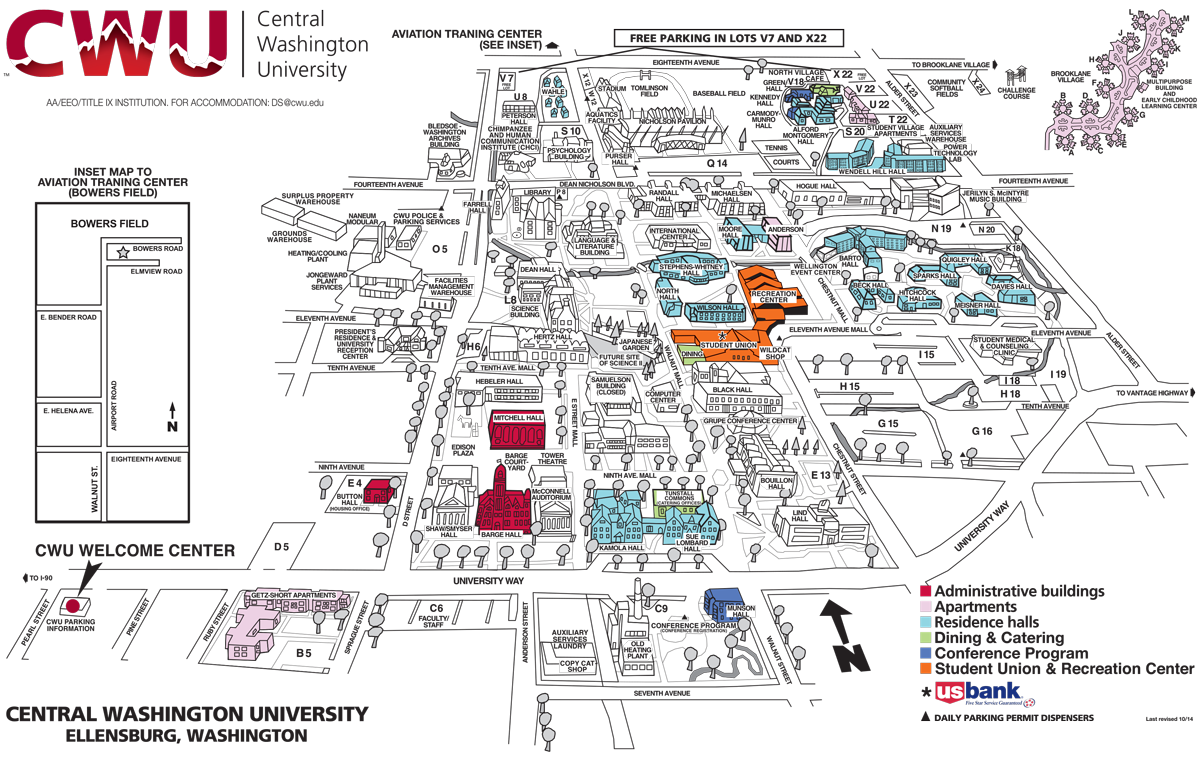 beautiful map of central washington university new york