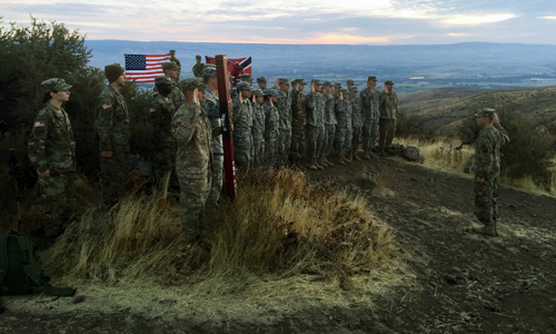 2017 CWU Army ROTC Oath of Enlistment ceremony on Manastash Ridge