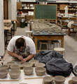 Student making pots