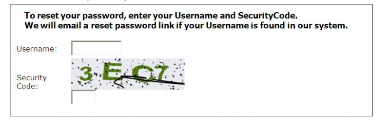 Reset Password image screenshot