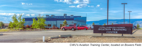CWU's Aviation Training Center, located on Bowers Field.