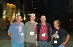 Image of Biology members at the International C. elegans Meetings.