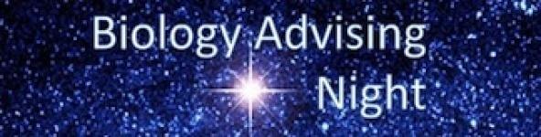 Advising Nights Feb 8 and Feb 9 SCIE 337 5:00-6:30pm