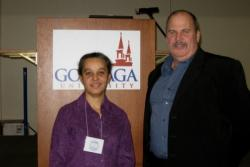 Image of Lucinda Carnell and Steve Chrisman at the Murdock regional conference.
