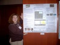 Image of Michelle Lester presenting poster at SNVB.