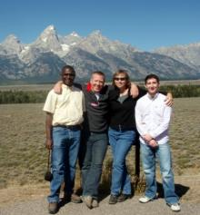 Image of Biology members attending conference in Wyoming