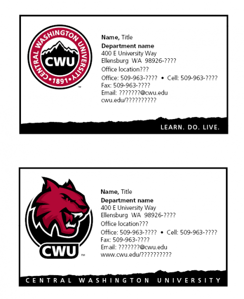 Cwu Brand Stationery