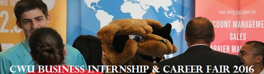 CWU Business Internship and Career Fair Banner