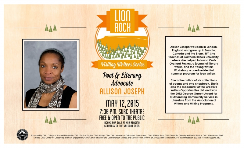 creative writing opportunities allison joseph Renaissance woman: an interview with allison joseph excerpt  in the creative writing ether born in london, to jamaican parents, raised in toronto and the bronx, she relocated to ohio to.