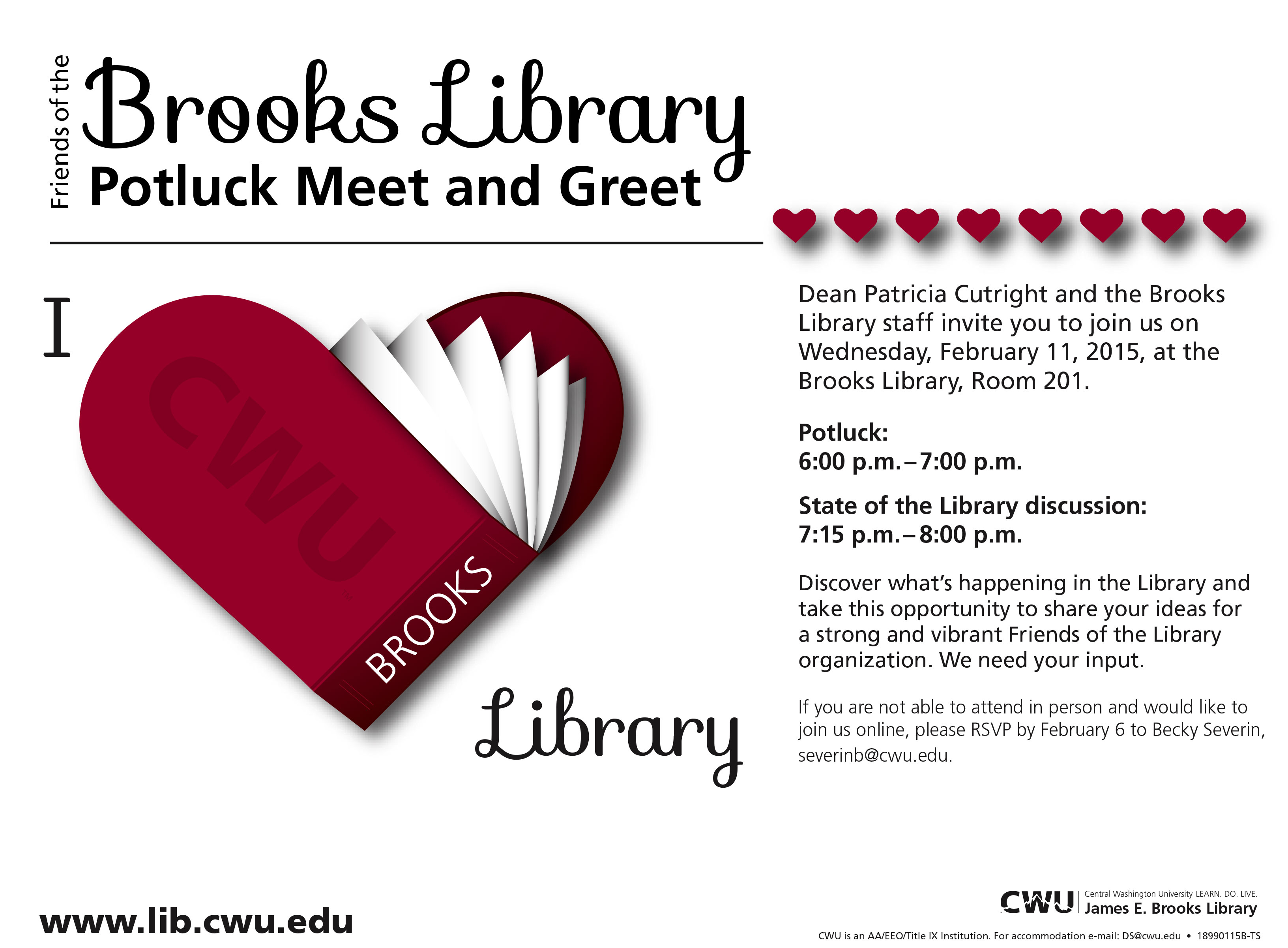 Campus Notices Brooks Library Potluck Meet amp Greet On