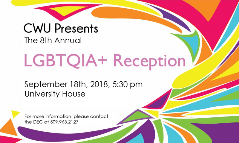 LGBTQUIA+ Reception - Tue 9/17 @ 6PM on the Presidents Lawn