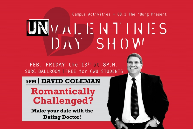 "dating doctor david coleman The dating game has been made simple for many isu students after david coleman's lecture wednesday night coleman is known as the ""dating doctor"" and gives."