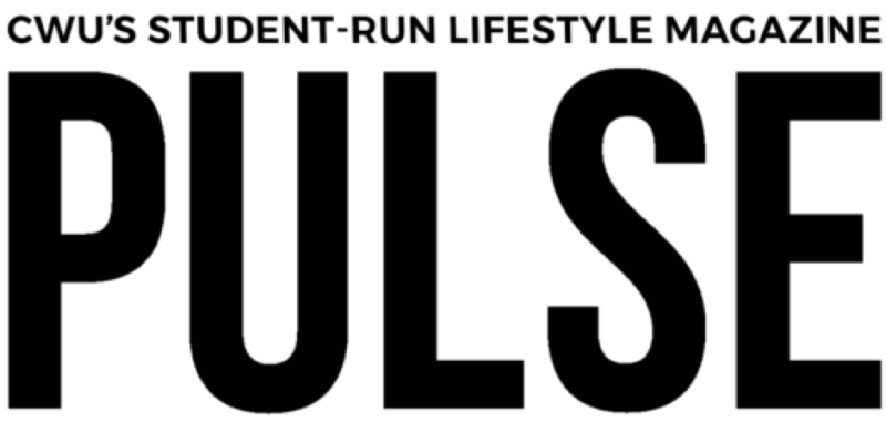 "PULSE Magazine's 2019 logo displays the words ""CWU'S STUDENT-RUN LIFESTYLE MAGAZINE"" below the magazine's name in much bigger all-caps font."