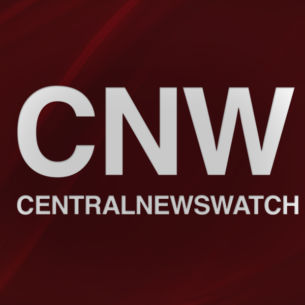 Central News Watch's logo displays the acronym CNW above the word Centralnewswatch in all caps within a crimson square.
