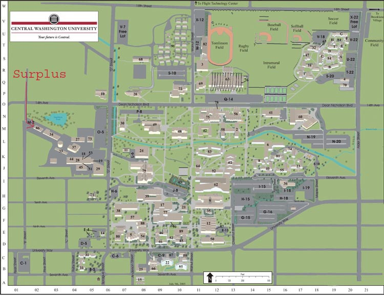 central washington university campus map Our Location Central Washington University central washington university campus map