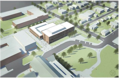 Model image of the proposed NEHS building