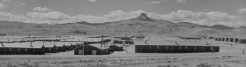 Image from the cover of Imprisoned in the Desert: The Geography of World War II-Era, Japanese American Relocation Centers in the Western United States