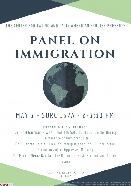 Flyer for Panel on Immigration