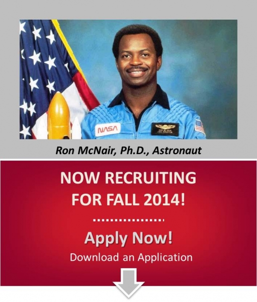 Picture of Ron McNair and now recruiting for 2014. Apply Now!