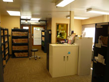 Back office: files, storage, and work space