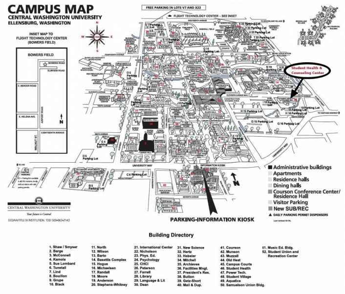 Student Medical & Counseling Clinic | Map to Our Location