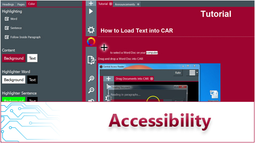 Accessibilty Header with Central Access Reader