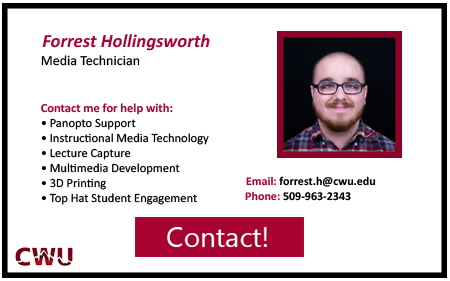 Media Technician, Forrest Hollingsworth Contact at 5 0 9 9 6 3 2 3 4 3