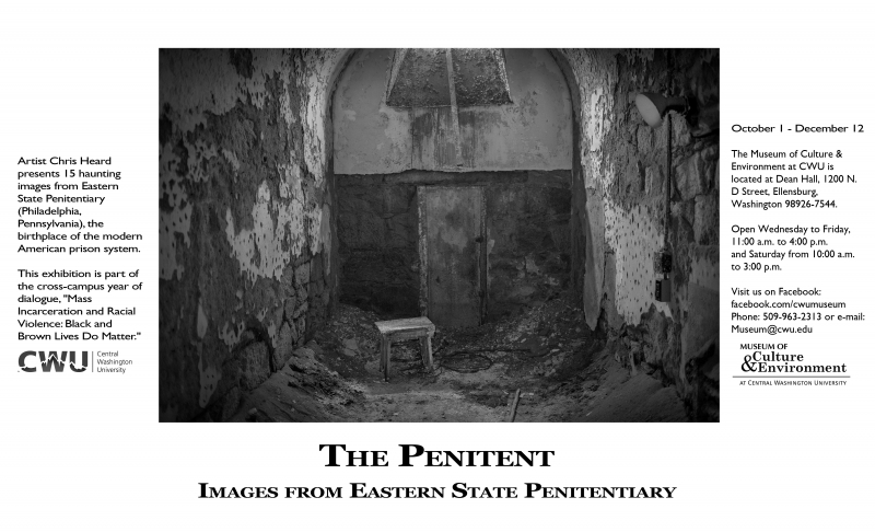The Penitent Exhibit promo flyer