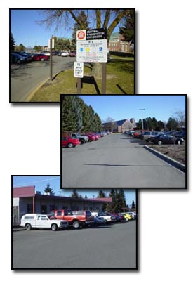 collage of university parking
