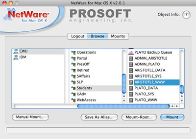 Screenshot of finding 'ARISTOTLE_WWW' folder