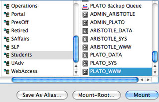 Screenshot of clicking on 'PLATO_WWW' folder