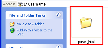 Screenshot of clicking on 'public_html' folder