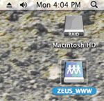 Screenshot of 'ZEUS_WWW' on your desktop screen