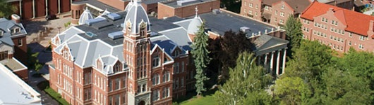 Arial image of Barge Hall