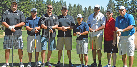 Kitna, far right, and friends at the 2014 Kitna Wildcat Classic