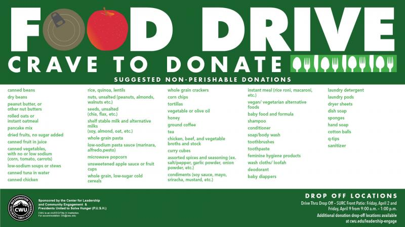 CLCE Food Drive poster