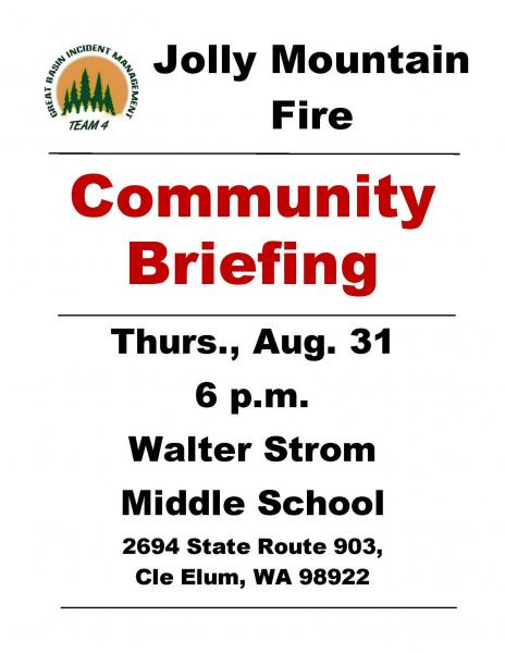 Jolly Mountain Fire Community Briefing