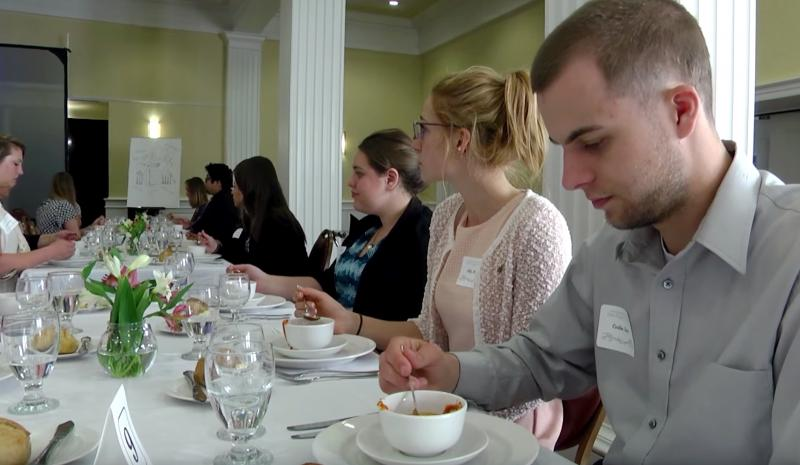 Etiquette seminar teaches students to put their best foot forward