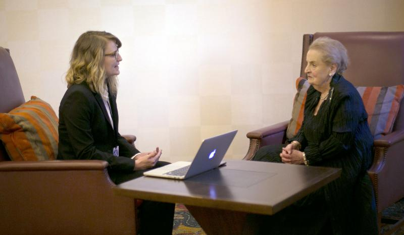 Alumna interviews Madeleine Albright, former U.S. secretary of state