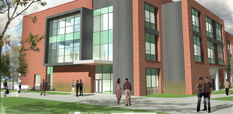 Artist rendering of proposed science phase II CWU ellensburg campus