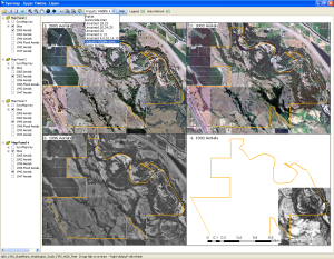 SyncMap software computer print screen of Upper Yakima