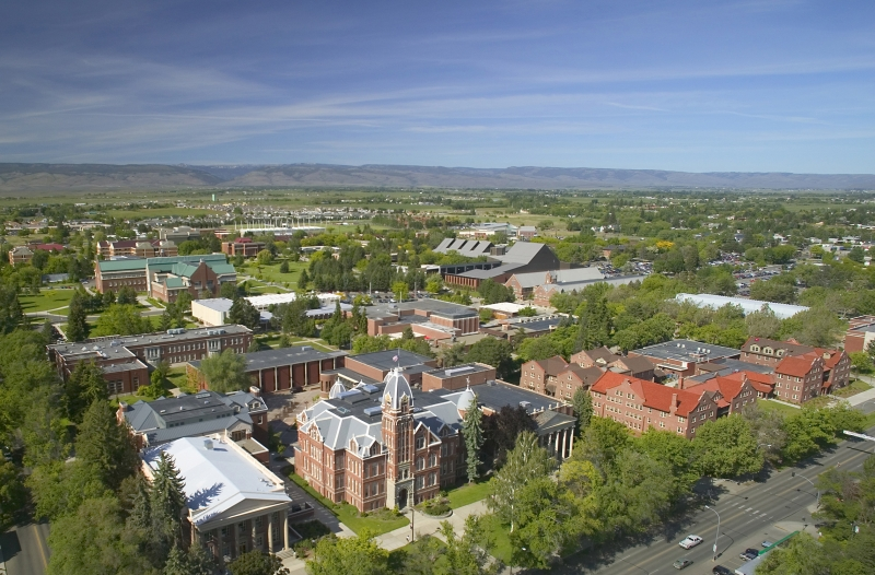 Aerial view of Central Washington University
