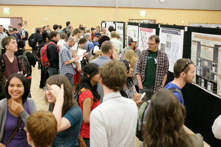 Photo of poster session at SOURCE
